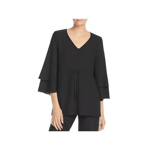 Lysse Womens Blouse Tiered Drawstring
