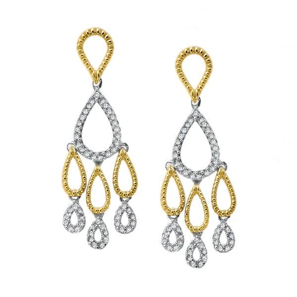 1/3 ct Diamond Chandelier Earrings in 14K Gold