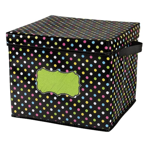 Chalkboard Brights Storage Box with Lid
