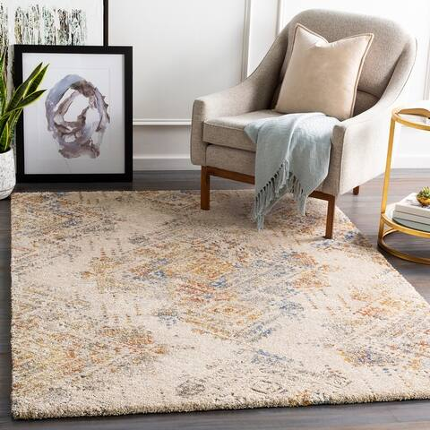 Porch & Den Meek Southwestern Pattern Plush Area Rug