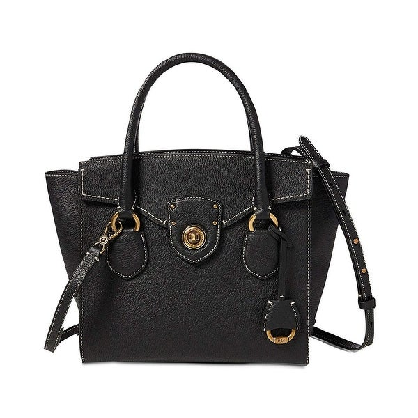 8a164bcf7317 Lauren Ralph Lauren Millbrook Medium Leather Satchel Black - One size