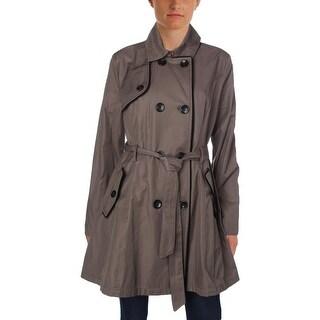 Betsey Johnson Womens Trench Coat Fall Velvet