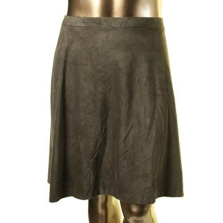 Tahari ASL Womens Faux Suede Lined A-Line Skirt