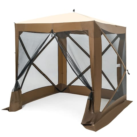 Costway 72''x 72'' Portable Pop Up 4 Sided Canopy Instant Gazebo