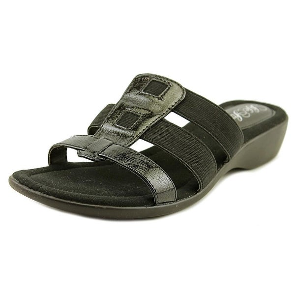 Life Stride Talk Black Sandals