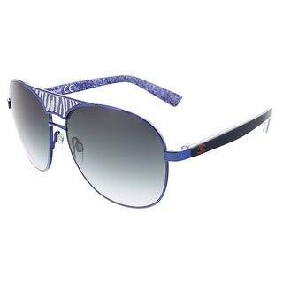 Just Cavalli JC 509 92W Navy Blue Aviator Sunglasses - 58-14-130