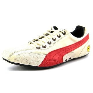 Puma Ferrari Supersqualo Lo Round Toe Leather Sneakers
