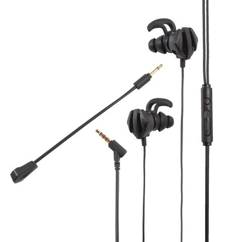 3.5mm Gaming Earbuds Dual Mic In-Ear Wired Headset For PUBG PS5 Cell Phone PC, Black