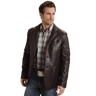 Stetson Western Jacket Mens Soft Leather Brown 11-097-0539-0697 BR