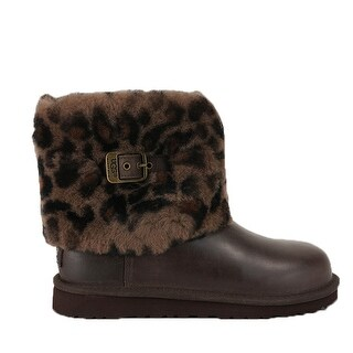 Ugg Youth Ellee Animal Boots - stout brown