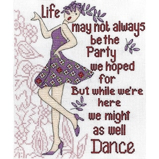 """Dance Party Counted Cross Stitch Kit-8""""X10"""" 14 Count"""