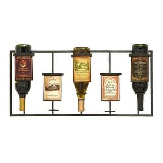 Benzara 56015 Wine Label Themed Wine Rack With 5 Slots