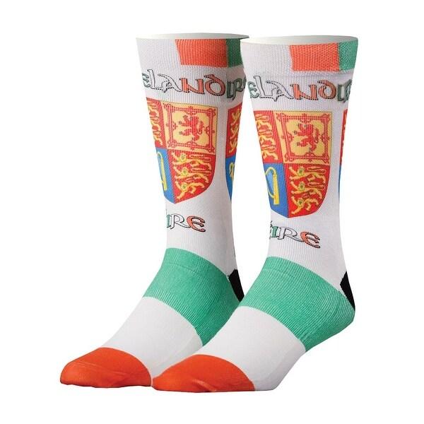Odd Sox Ireland Print Country Crew Socks - Eire Crest