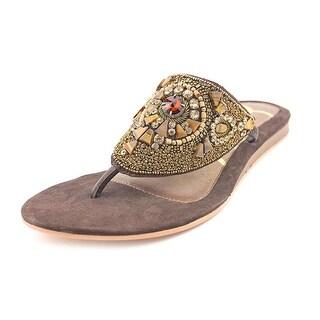 J. Renee Talis Women Open Toe Suede Flip Flop Sandal
