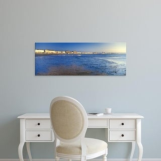 Easy Art Prints Panoramic Images's 'Beach, Weymouth, Dorset, England' Premium Canvas Art