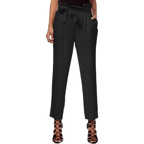 Rachel Rachel Roy Womens Trouser Pants Straight Leg Paper Bag Tapered