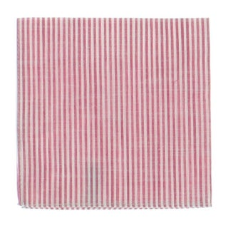Tommy Hilfiger Mens Pocket Square Cotton Striped - o/s
