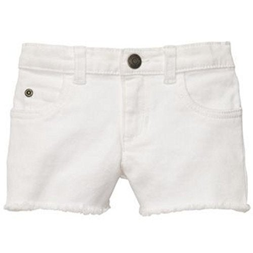 Carter's Little Girls' Sweet Sunshine Stretch Twill Shorts White 4k