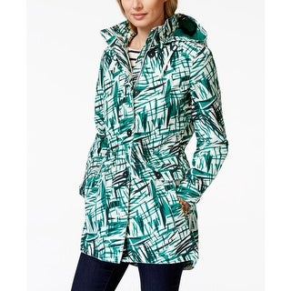 Tommy Hilfiger Womens Parka Printed Hooded