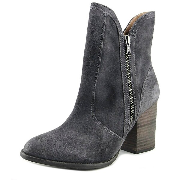 Seychelles Lori Penny Women Pointed Toe Suede Gray Ankle Boot
