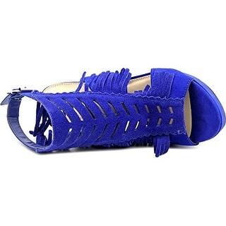 bar III Nero Fringe Dress Sandals - Cobalt