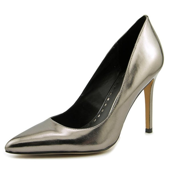Dolce Vita Porsha Women Pointed Toe Patent Leather Silver Heels