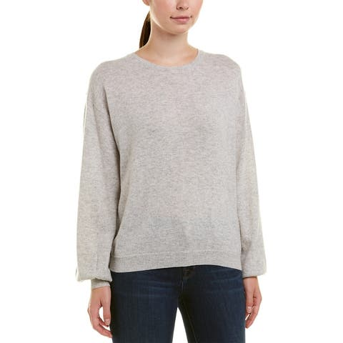 Joie Airic Wool & Cashmere-Blend Sweater - LIGHT HEATHER GREY