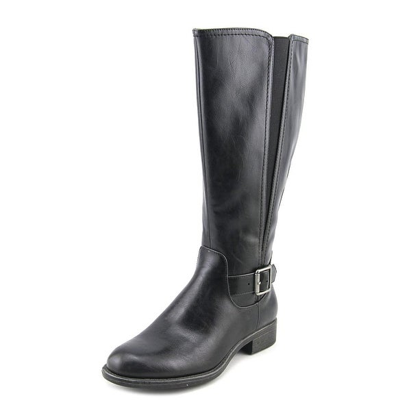 Kim Rogers React Wide Calf Women Black Boots