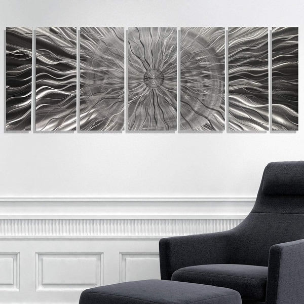 Statements2000 3D Metal Wall Art Tropical Accent Etched Silver Decor Jon Allen