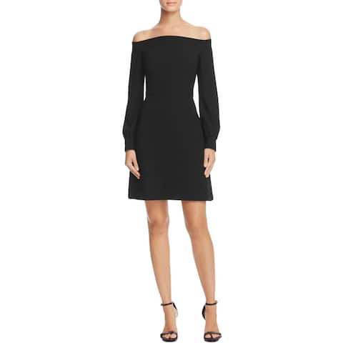 JILL Jill Stuart Womens Cocktail Dress Off-The-Shoulder Party
