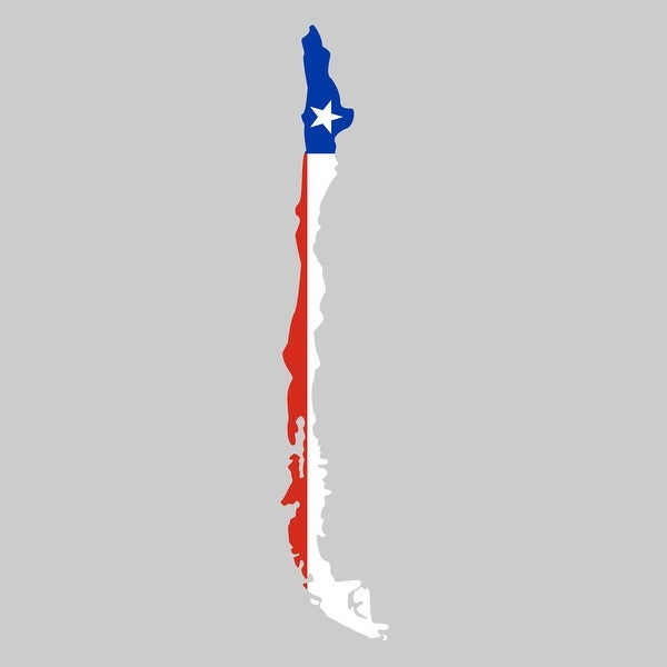 Chile - Country Flag Decal 1 - 24x24 Peel'N'Stick Wall Art