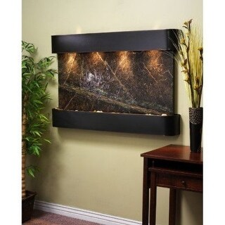 Adagio Sunrise Springs With Green Rainforest Marble in Blackened Copper Finish a