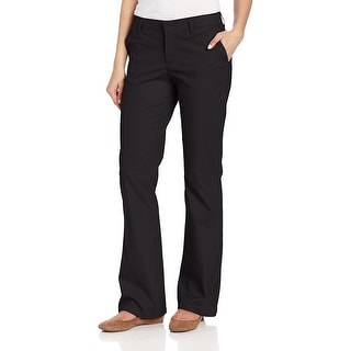 Rinsed Black 14 Skinny Stretch Twill Pant Dickies Womens Mid-Rise