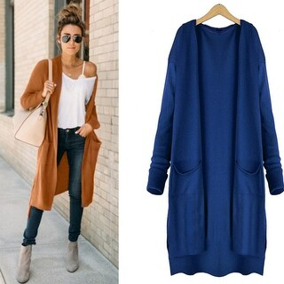 Women's Top Medium-long Cardigan Outerwear Sweater Knitted Cardigan