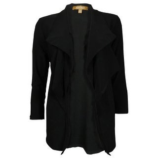 Ellen Tracy Women's Ruffled 3/4 Sleeves Jersey Cardigan - xs