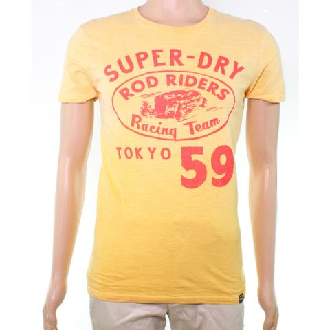 Superdry Men Graphic T-Shirt Gold Large L 'Road Riders Racing Tee'