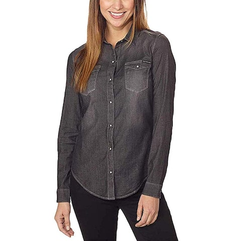 Calvin Klein Jeans Women Denim Long Sleeve Button Down Cotton Shirt