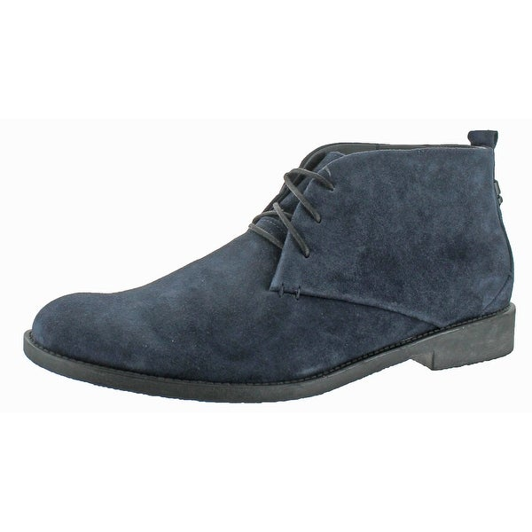 Calvin Klein Vernon Suede Round Toe Ankle Boots Shoes