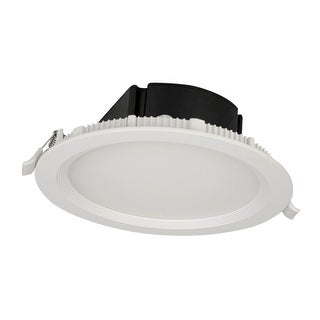 "Bazz Lighting SLMTB6 LED SLIM 6.875"" LED IC Rated Baffle Trim Integrated Recesse - Matte White"