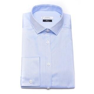Versace Men Trend Cotton Dress Shirt Blue
