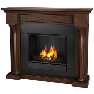 Real Flame 5420-CO Verona Ventless Gel Fireplace in Chestnut Oak - Chestnut Oak