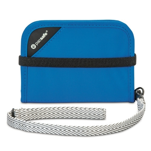 Pacsafe 10551600-Blue RFIDsafe Anti-Theft V50 Blocking Compact Wallet