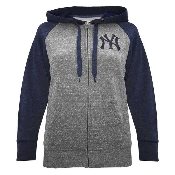 timeless design 178b7 bbf59 New Era Women MLB New York Yankees Glitter Logo Zip Hoodie Sweatshirt  7773L-HHQN