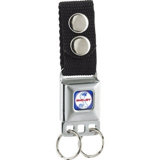 Shelby Tiffany Split Full Color Blue Red White Keychain
