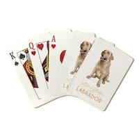 Yellow Labrador Retriever Life is Better - LP Art (Poker Playing Cards Deck)