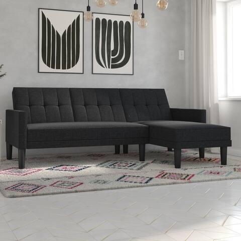 Avenue Greene Helena Small Space Sectional Sofa Futon