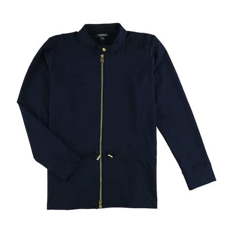 Ralph Lauren Womens Cinched Waist Jacket, blue, Small