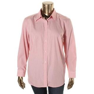 Ralph Lauren Womens Plus Casual Top Cotton Striped - 2x