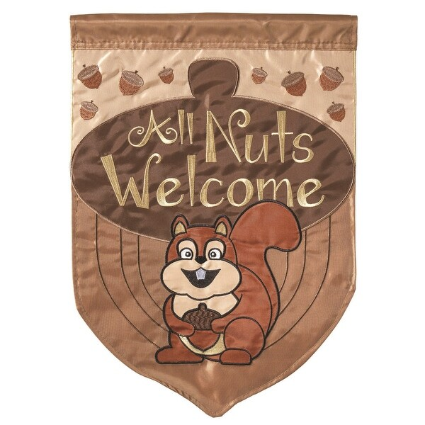 "Squirrel Welcoming all Nuts Garden Flag 13"" x 18"" - N/A"