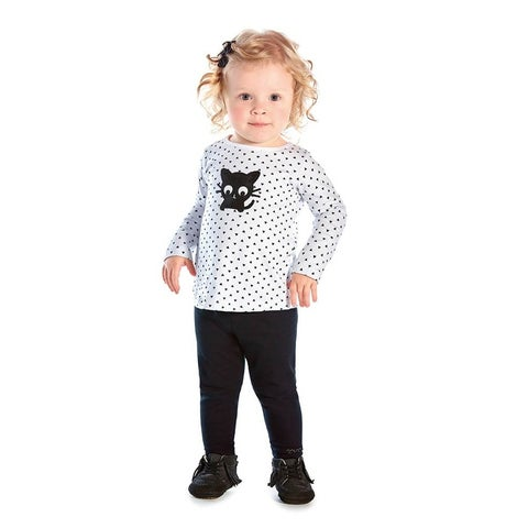 Baby Girl Long Sleeve T-Shirt Newborn Graphic Tee Infant Pulla Bulla 3-12 Months